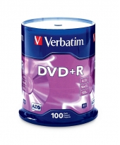 Verbatim DVD+R (4.7GB) 16x (100pcs in Spindle) [Cake Box]